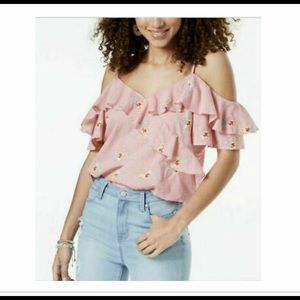 *NWT* Gingham Off The Shoulder Blouse